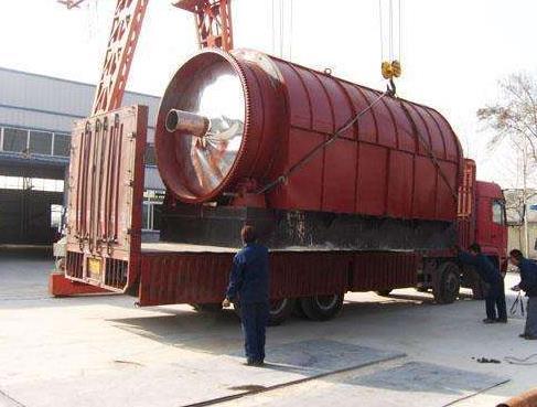 专业废轮胎炼油设备的各个部件的位置分布