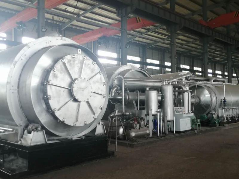 环保废轮胎炼油设备生产现场